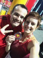 Nós com as nossas medalhas
